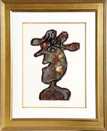 Lithographie Dubuffet - L'Homme au Chapeau