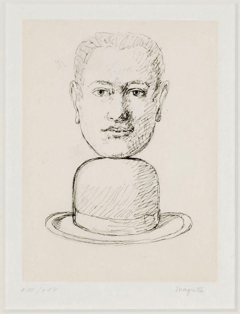 Aucune Technique Magritte - L'Homme au chapeau Melon