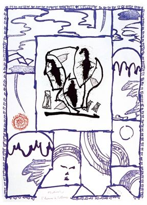Eau-Forte Et Aquatinte Alechinsky - L'homme de Tollund