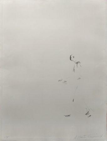 Lithographie Giacometti - L'HOMME QUI MARCHE