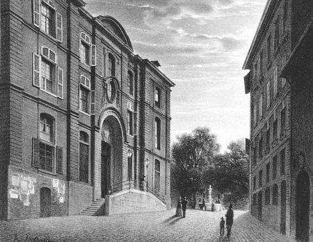 Lithographie Fontanesi - L'Hopital