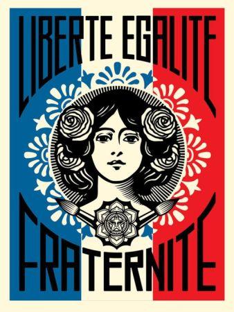 Offset Fairey - Liberté, égalité, fraternité