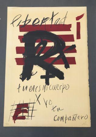 Lithographie Tàpies - Libertad