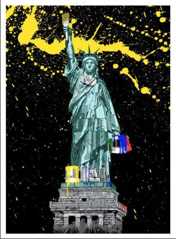 Sérigraphie Mr. Brainwash - Liberty