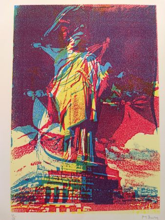 Lithographie Bury - Liberty