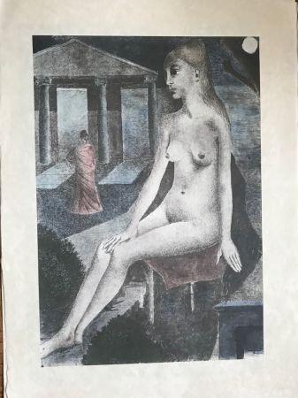 Sérigraphie Delvaux - L'Idole