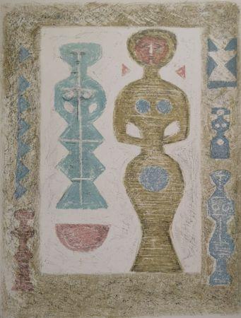 Lithographie Campigli - L'Idole