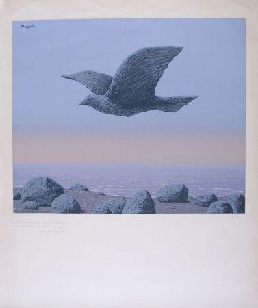Lithographie Magritte - L'Idole - Rock Bird