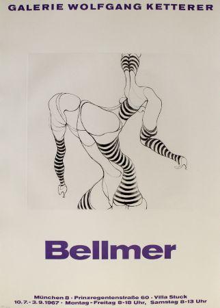 Gravure Bellmer - Liegende In Strümpfen