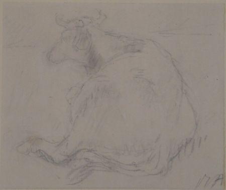 Aucune Technique Auberjonois - Liegende Kuh / Reclining cow