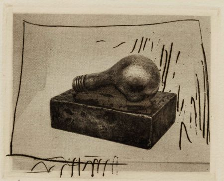 Gravure Johns - Light Bulb (Small), 1st Etchings, 2nd State