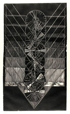 Linogravure Klien,  - Light in Glass I