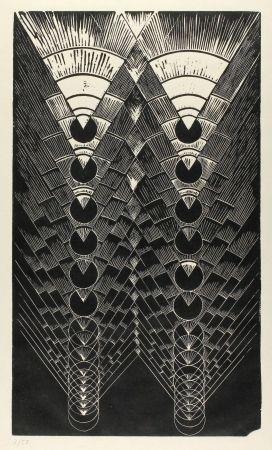Linogravure Klien,  - Light in Glass II