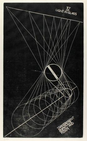 Linogravure Klien,  - Light in Glass IV