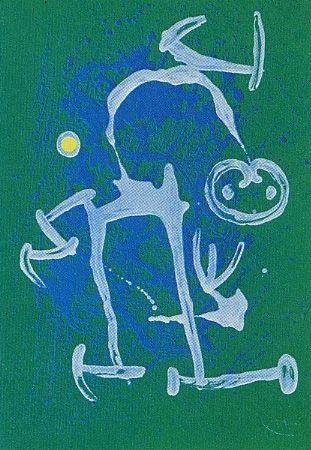 Aucune Technique Miró - L'Illettré bleu & blanc