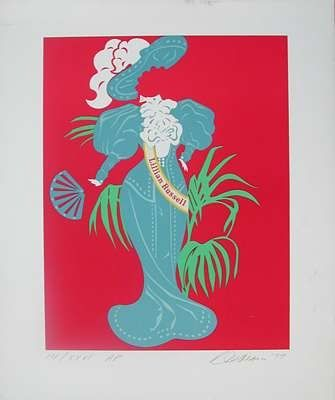 Sérigraphie Indiana - Lillian Russell