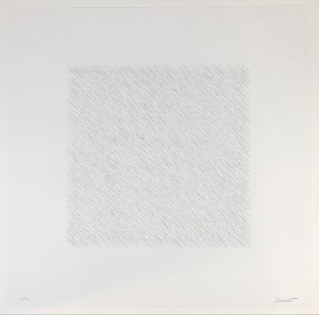 Lithographie Lewitt - Lines of One Inch Four Directions Four Colors