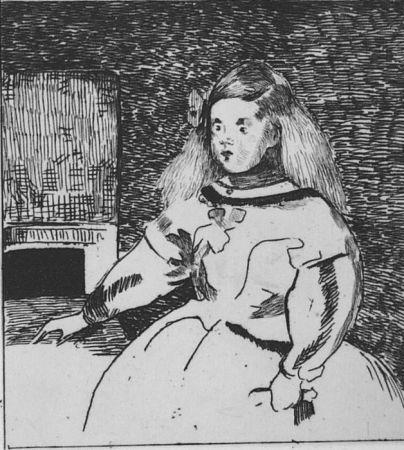 Eau-Forte Manet - L'infante Marguerite