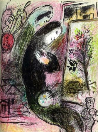 Lithographie Chagall - L'Inspire M. 398