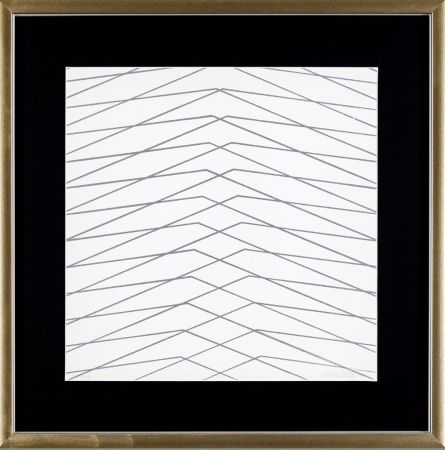 Sérigraphie Morellet - L'instabilità come condizione umana
