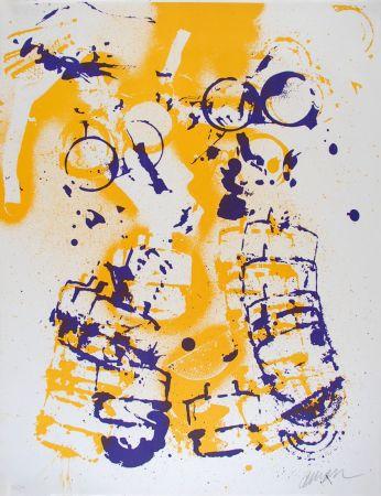 Lithographie Arman - L'intérieur Des Choses V : Le Masque À Gaz