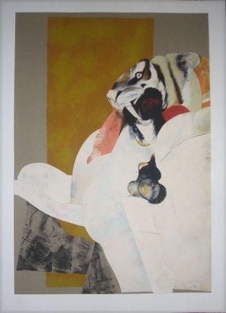 Lithographie Pomar - Lion