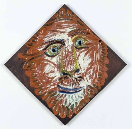 Céramique Picasso - Lion's Head, 1968-1969