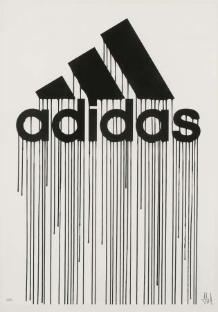 Sérigraphie Zevs - Liquidated Adidas