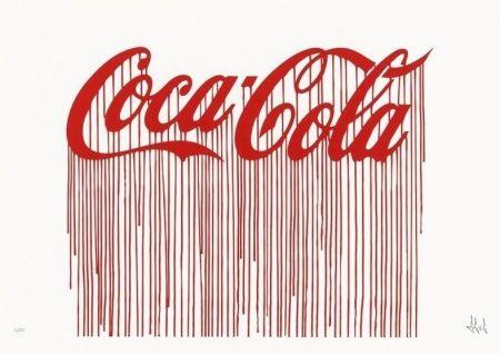 Sérigraphie Zevs - Liquidated Coca-Cola