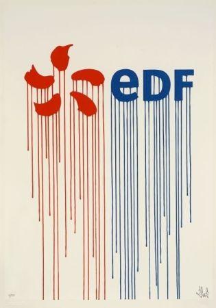 Sérigraphie Zevs - Liquidated EDF