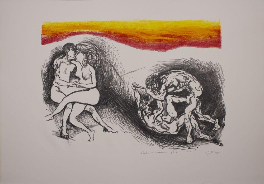 Lithographie Guttuso - L'Italia del centenario