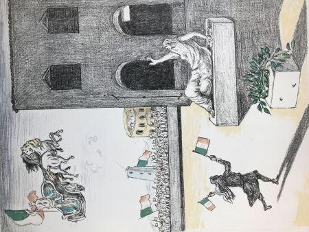 Lithographie De Chirico - L'Italia del centenario