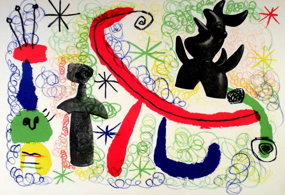 Lithographie Miró - Litho 1950