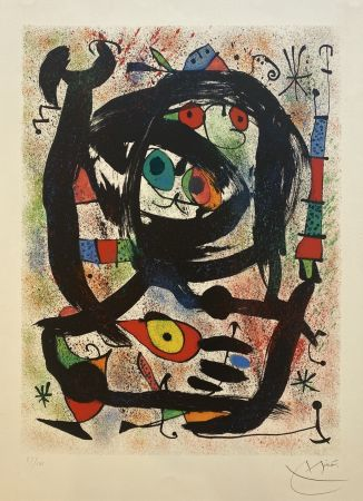 Lithographie Miró - Lithograph for the County Museum of Art, Los Angeles