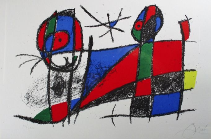 Lithographie Miró - Lithograph Vi From Vol. Ii