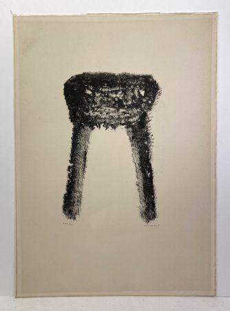 Lithographie Michaux - Lithographie en noir