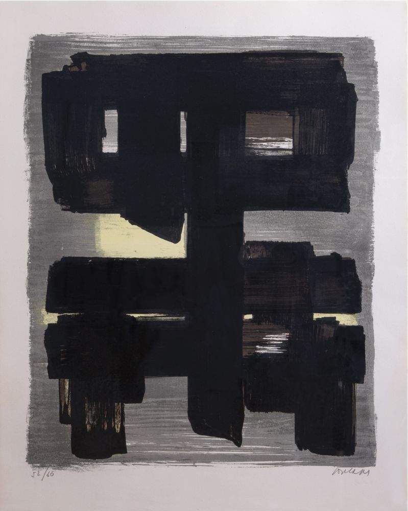 Lithographie Soulages - Lithographie n°1