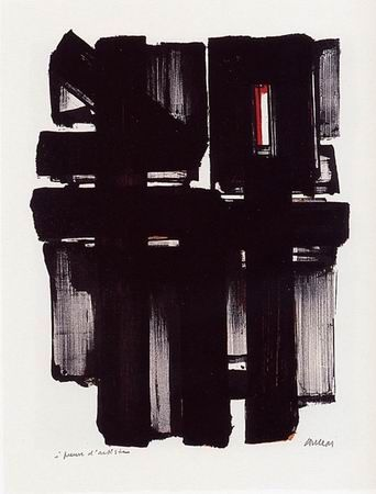 Lithographie Soulages - Lithographie n°2