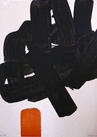 Lithographie Soulages - Lithographie N°24b