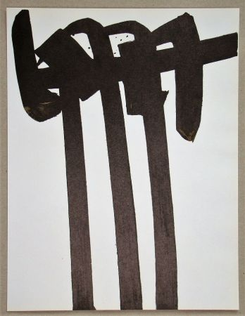 Lithographie Soulages - Lithographie N°28
