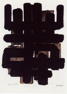 Lithographie Soulages - Lithographie n°3