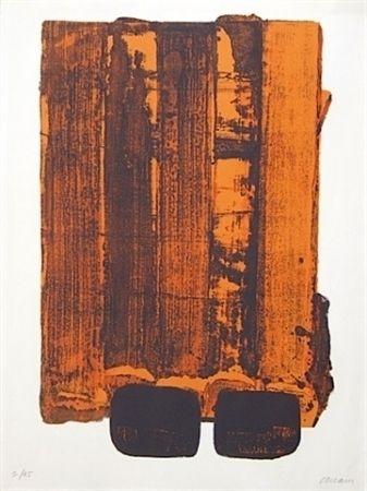 Lithographie Soulages - Lithographie n°34
