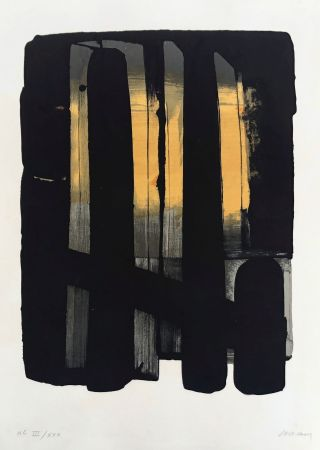 Lithographie Soulages - Lithographie n°38