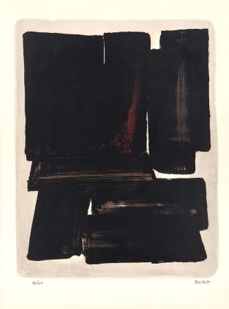 Lithographie Soulages - Lithographie N°7a