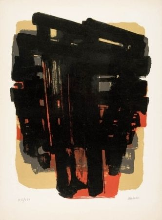 Lithographie Soulages - Lithographie n°8