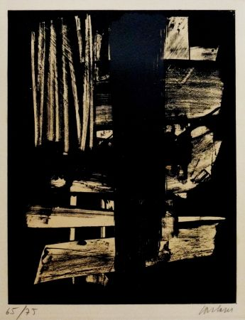 Lithographie Soulages - Lithographie n°9