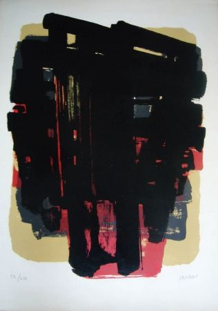 Lithographie Soulages - Lithographie n° 8