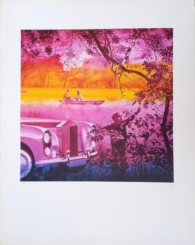Lithographie Monory - Lithographie offset. Numérotée et signée par l'artiste au crayon.