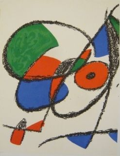 Lithographie Miró - Lithographie  VIII