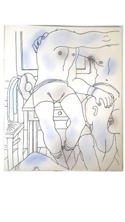 Lithographie Cocteau - Livre Blanc